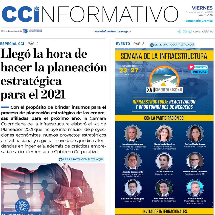 Edición No. 30 - 6 de noviembre de 2020